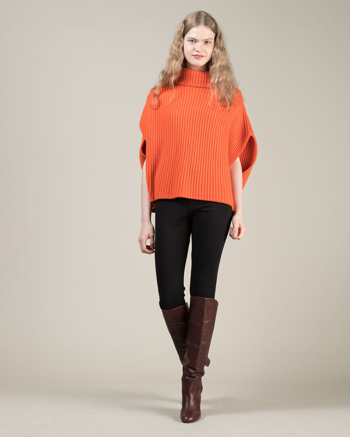 Orange Sleeveless Cape