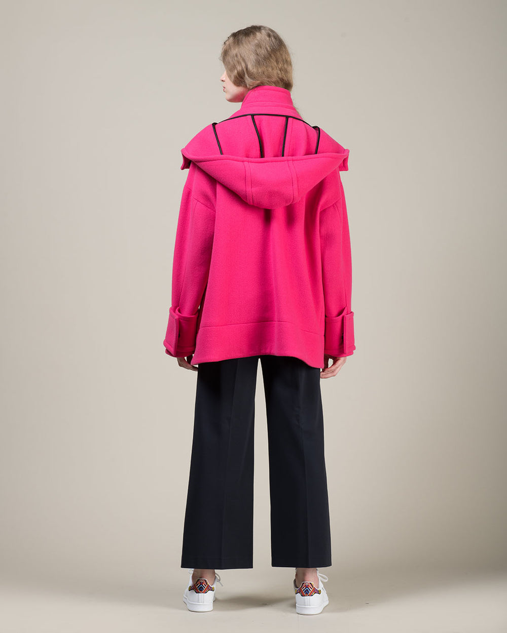 Short Duffle Coat with Toggles