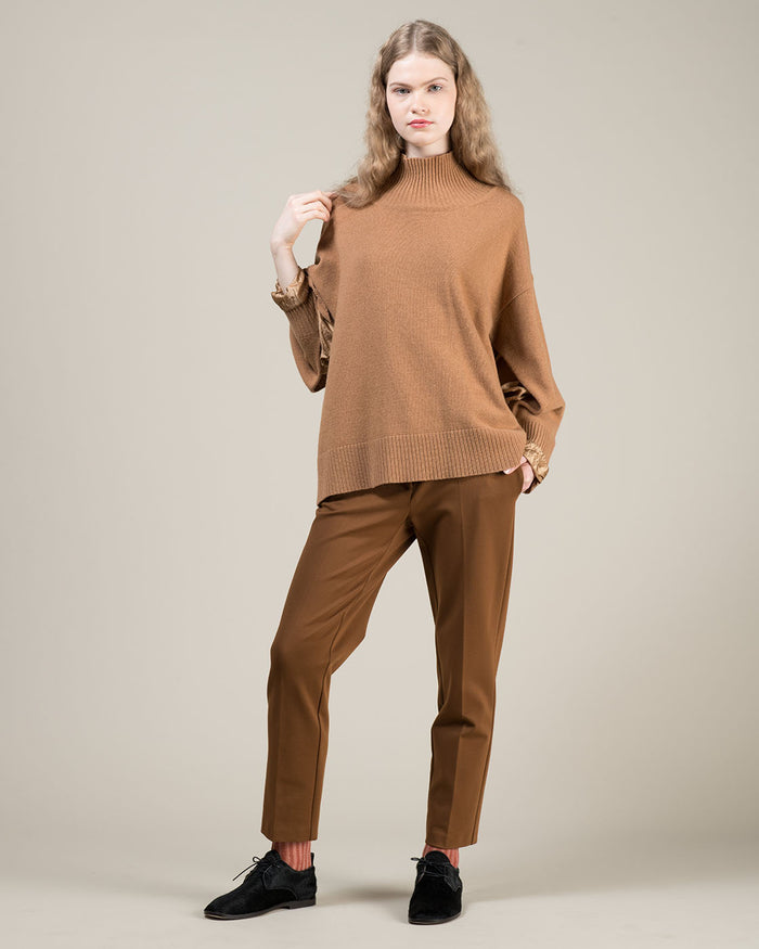 Straight Leg Brown Pants