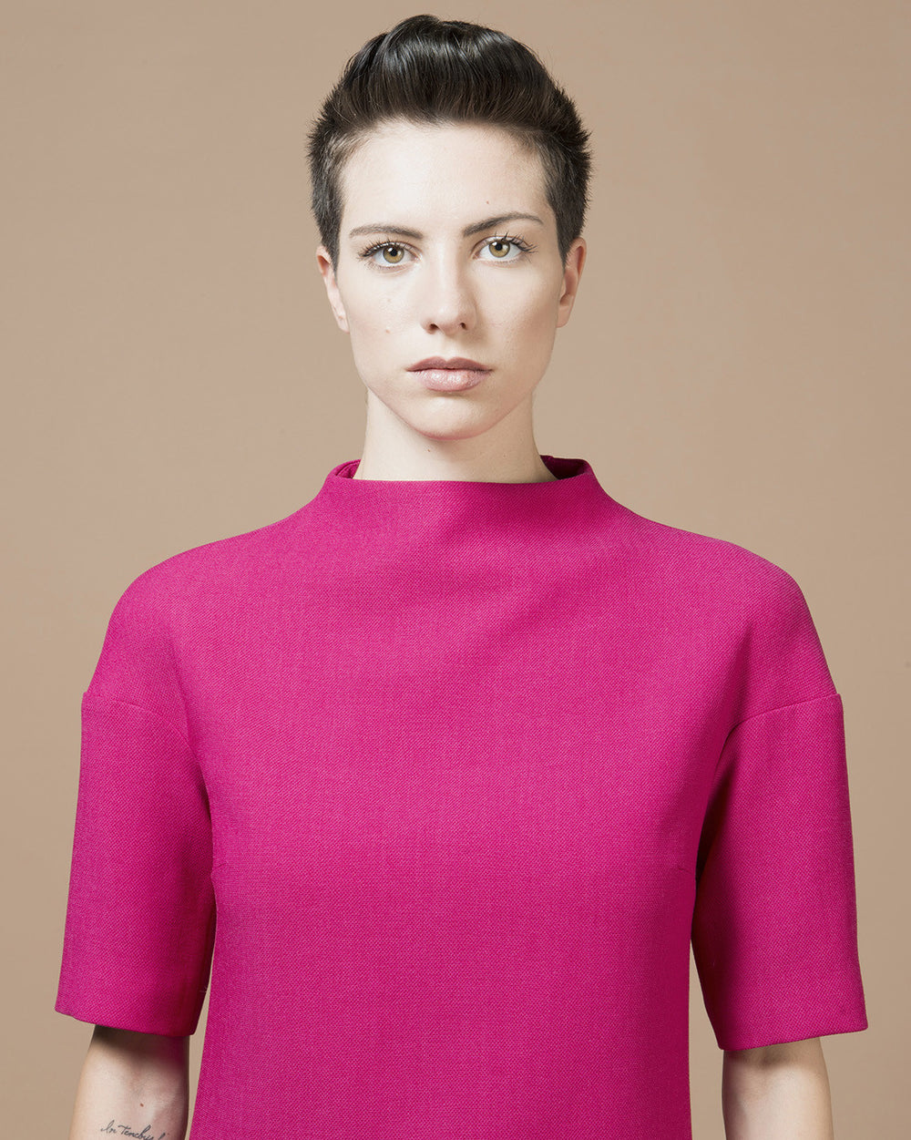 Fuchsia Turtleneck Dress