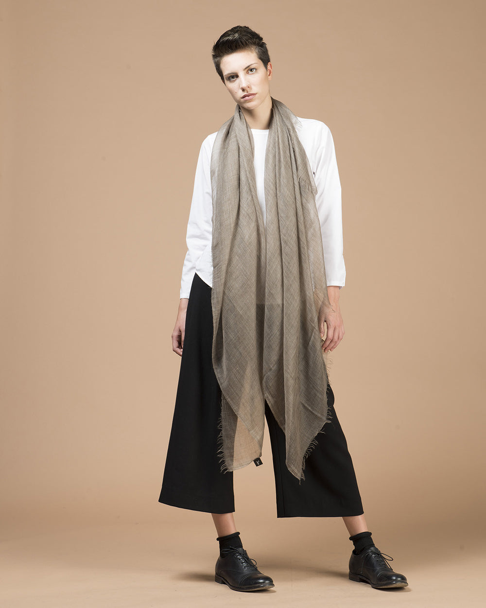 Taupe Cashmere Scarf
