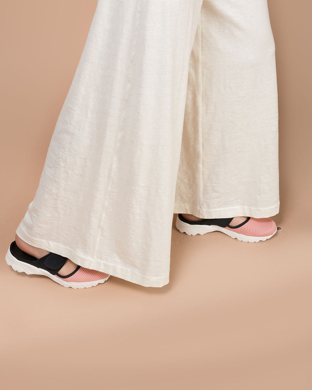 White Linen Wide Long Pants
