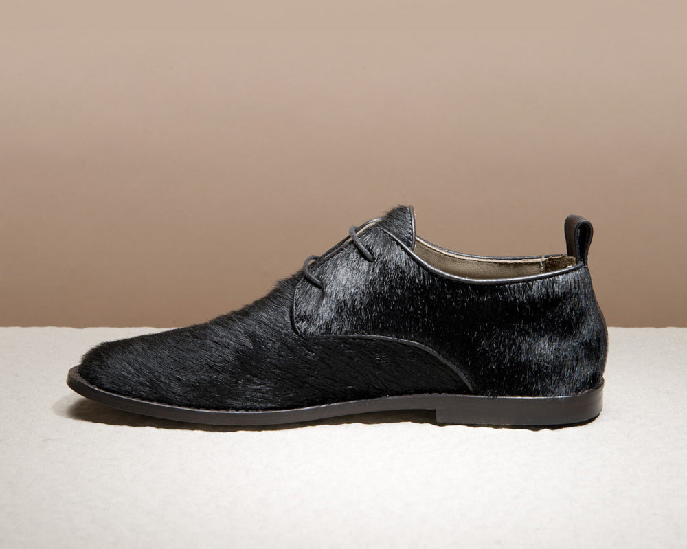 Black Calf Hair Derbys