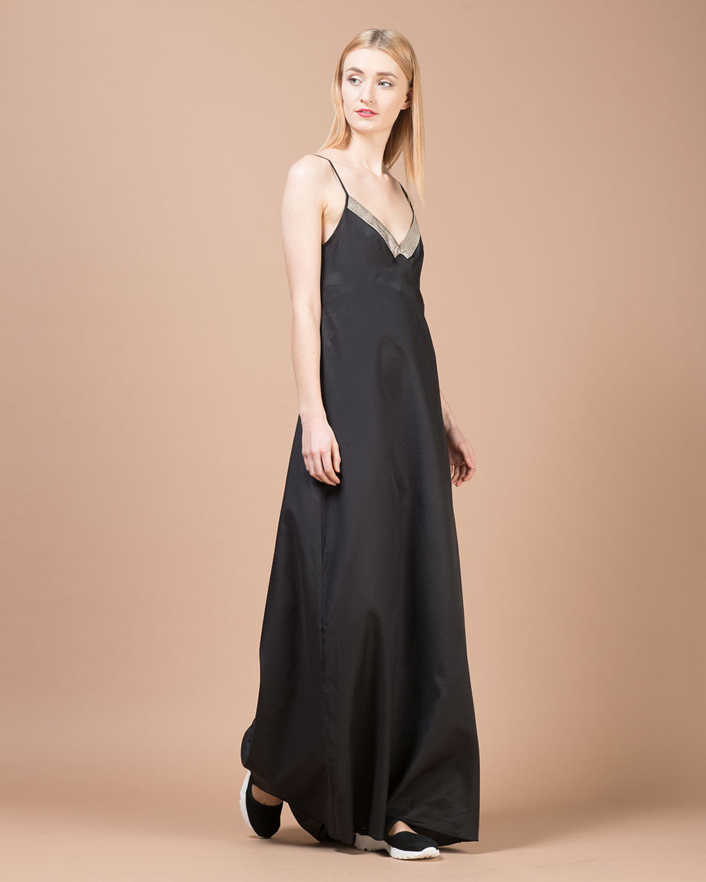 Black Cotton Long Dress