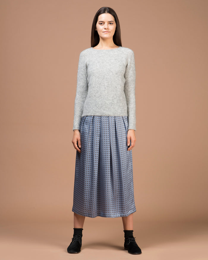 Pearl Grey Boatneck Sweater