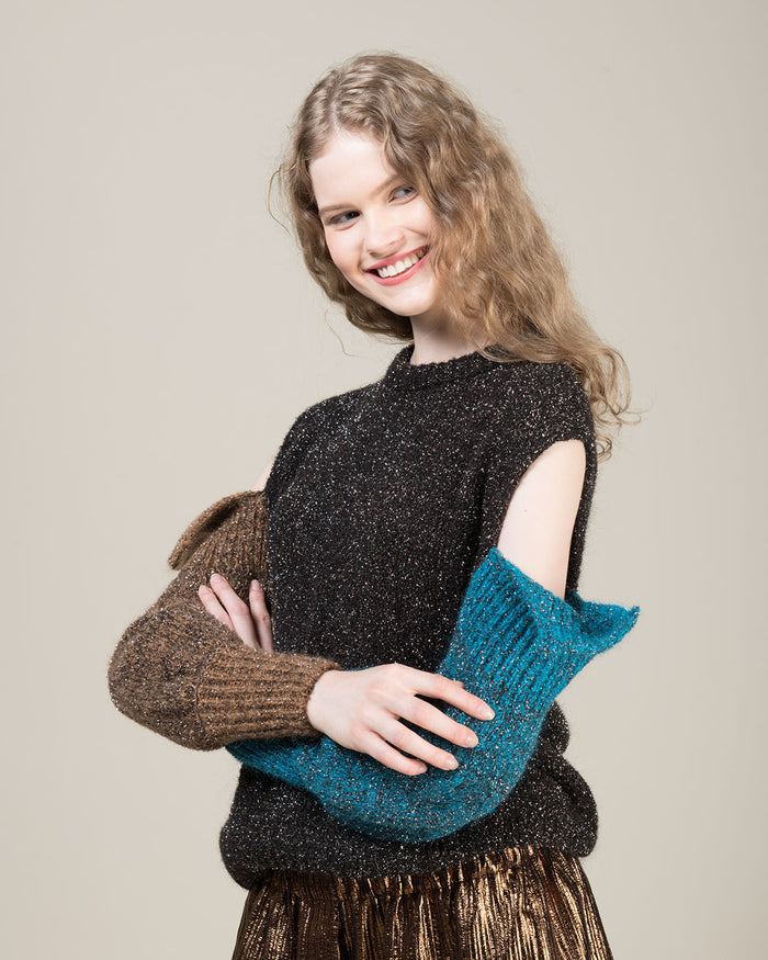Multicolor Metallic Effect Sweater