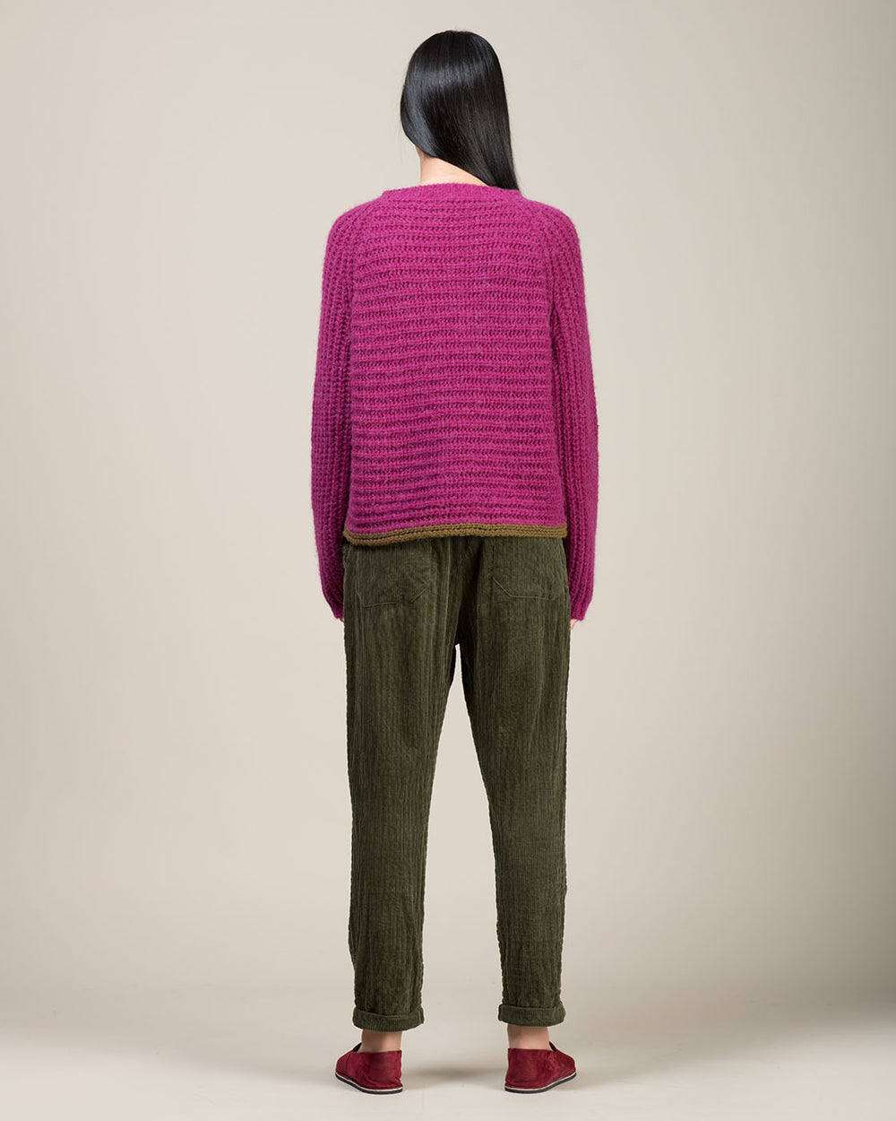 Pink Funnel Neck Sweater
