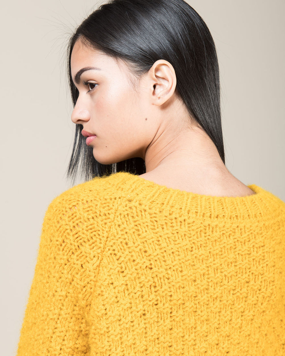 Saffron Yellow Crewneck Sweater