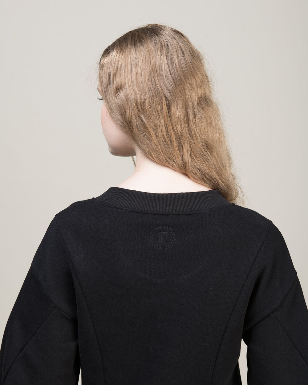 Black Sweatshirt with Side Zips