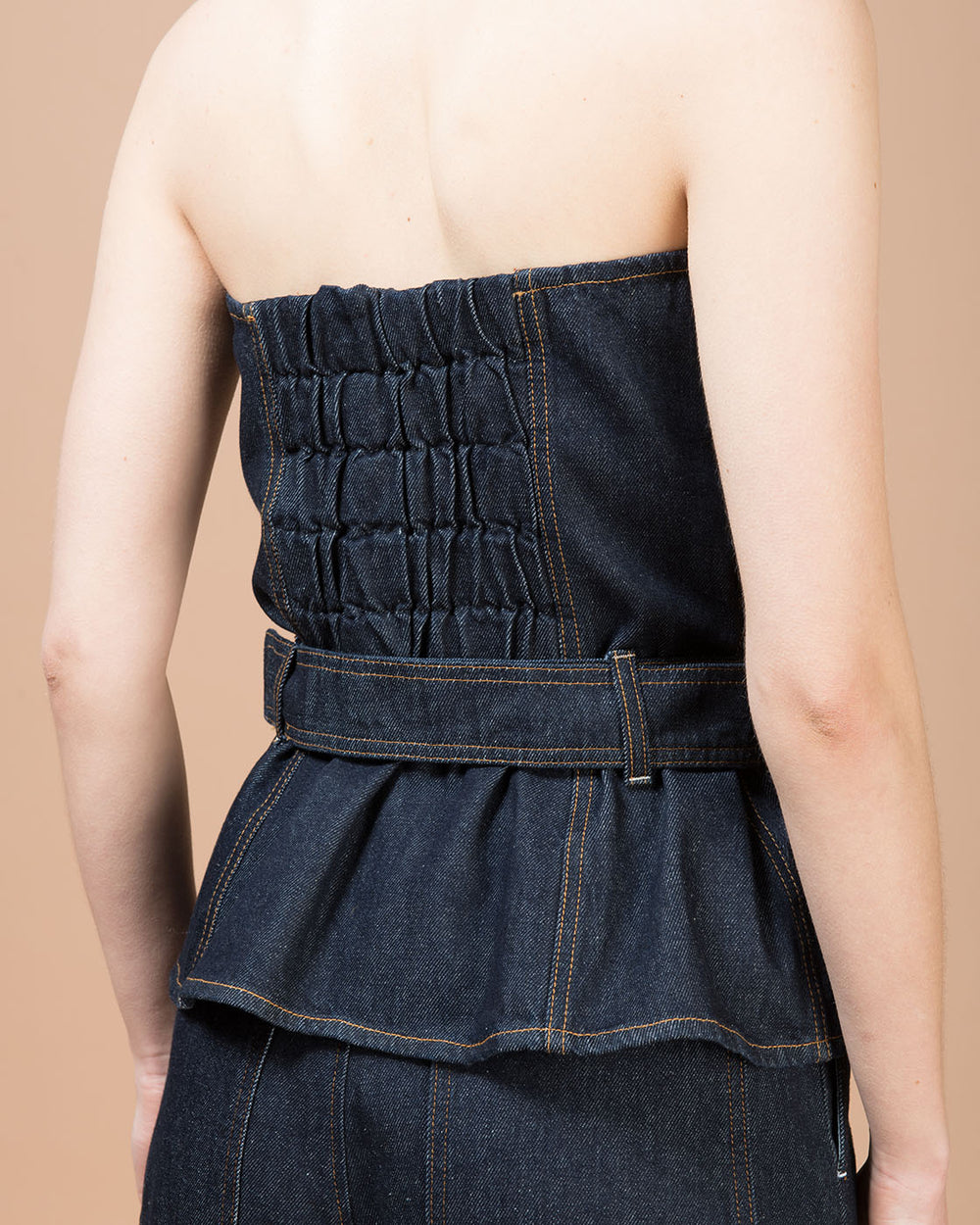 Blue Denim Corset Top