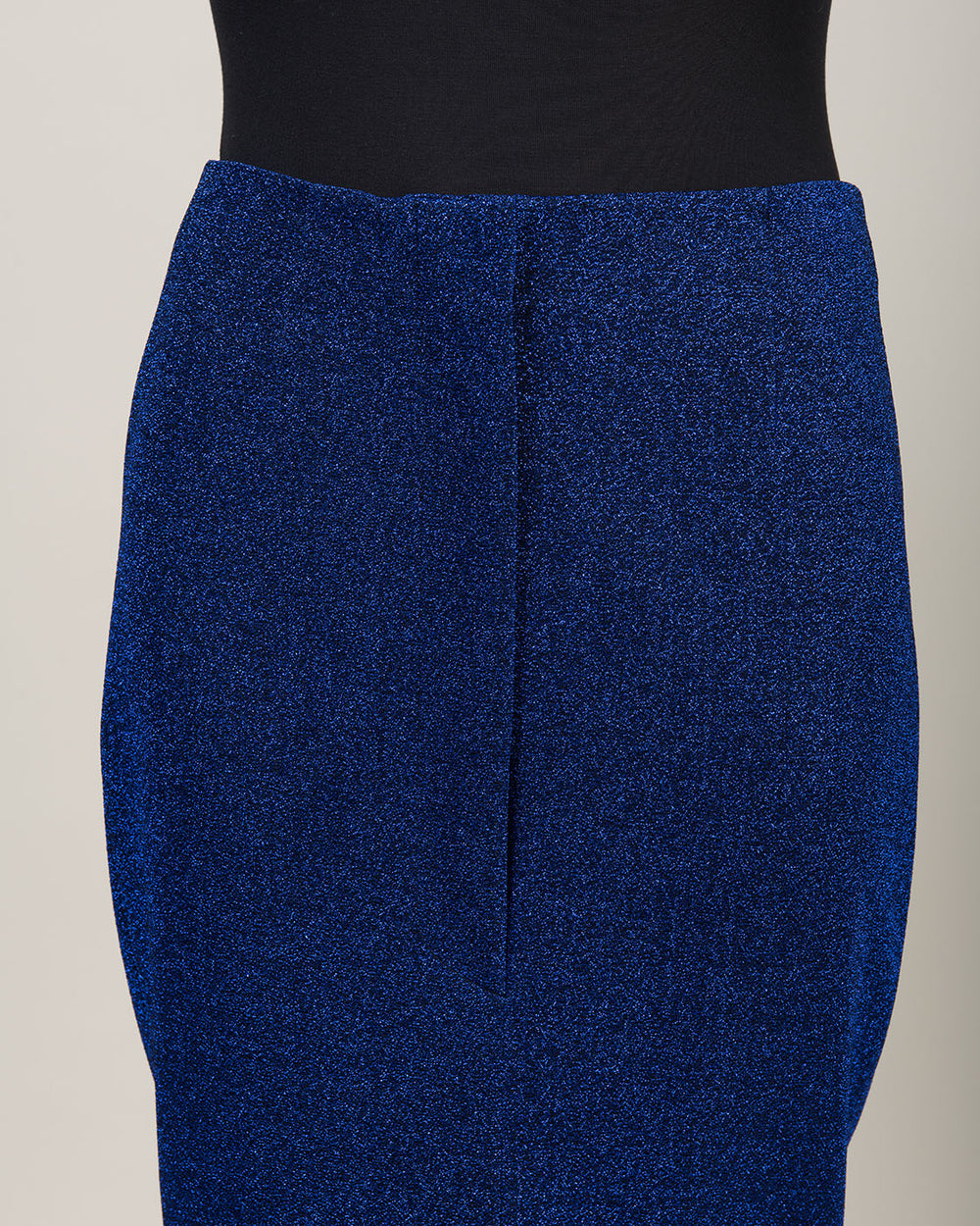 Cornflower Blue Metallic Pencil Skirt