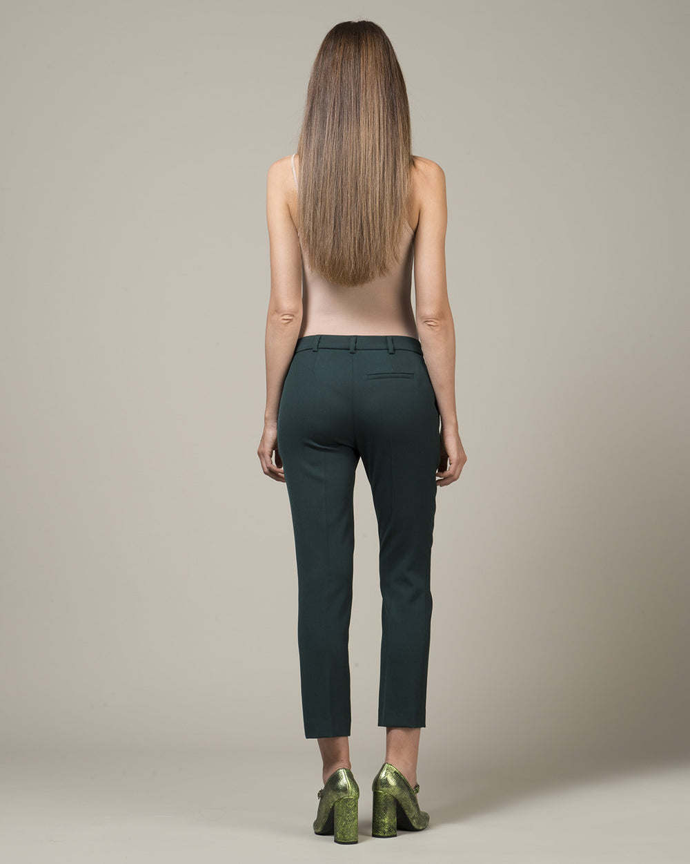 Green Tapered Pants