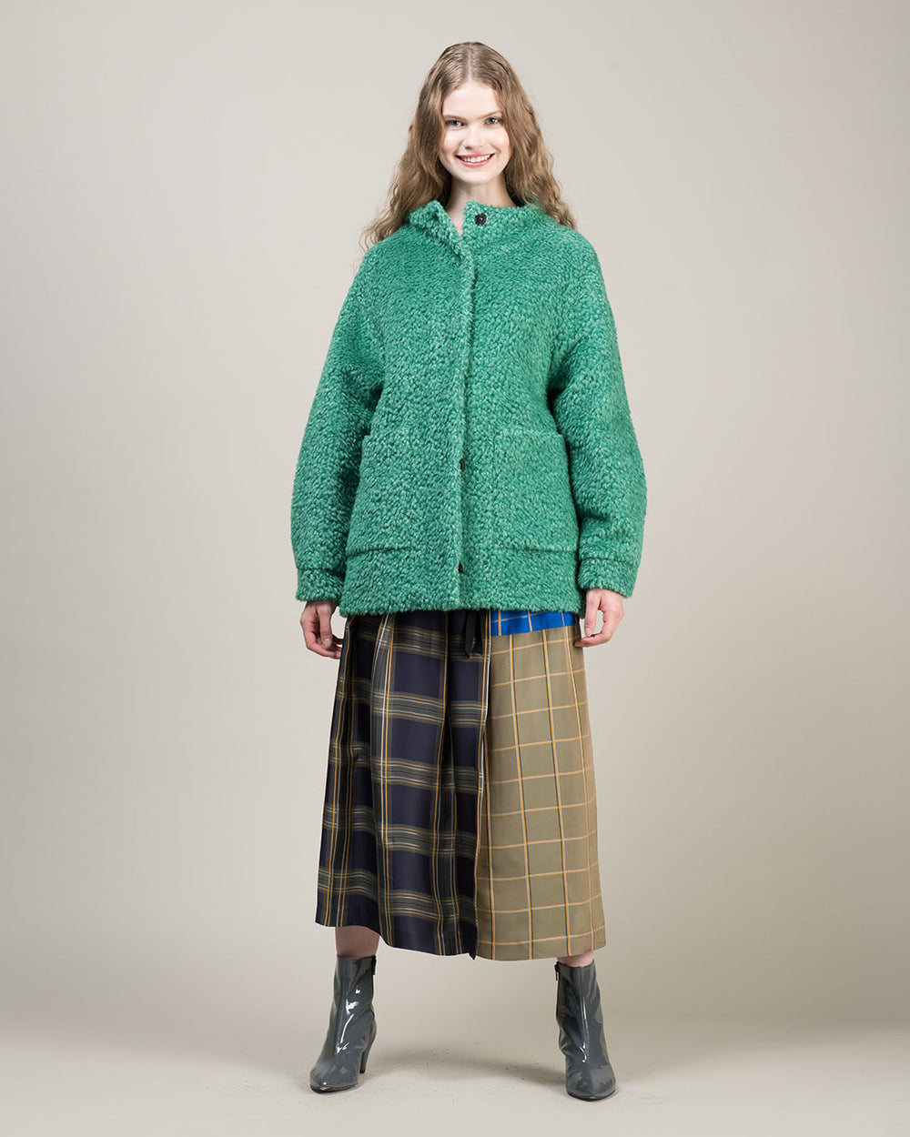 Green Wool Bouclè Jacket