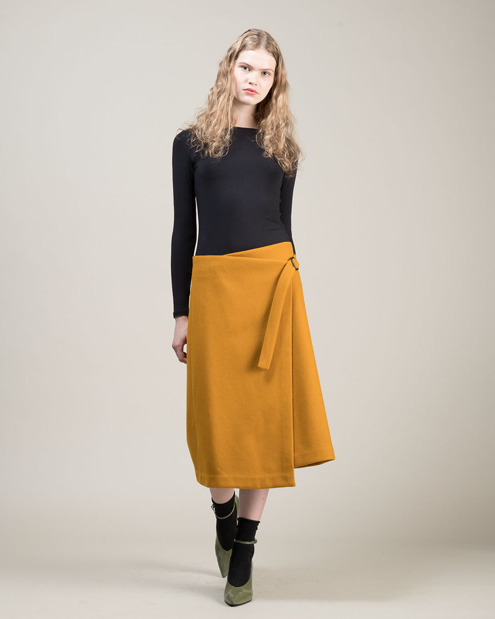 Mustard Yellow Wallet Skirt