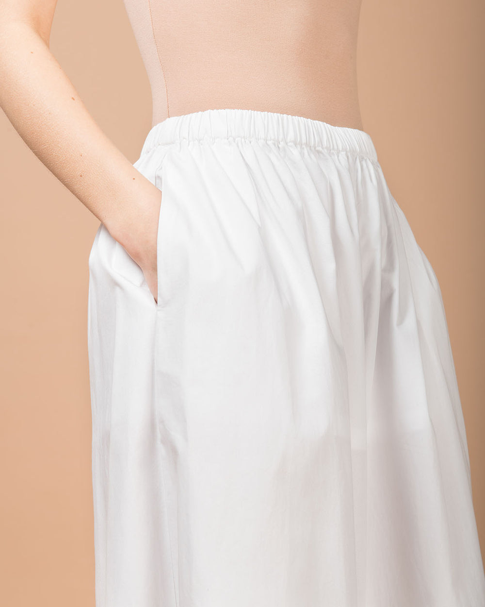 White Embroidered Wide Leg Shorts