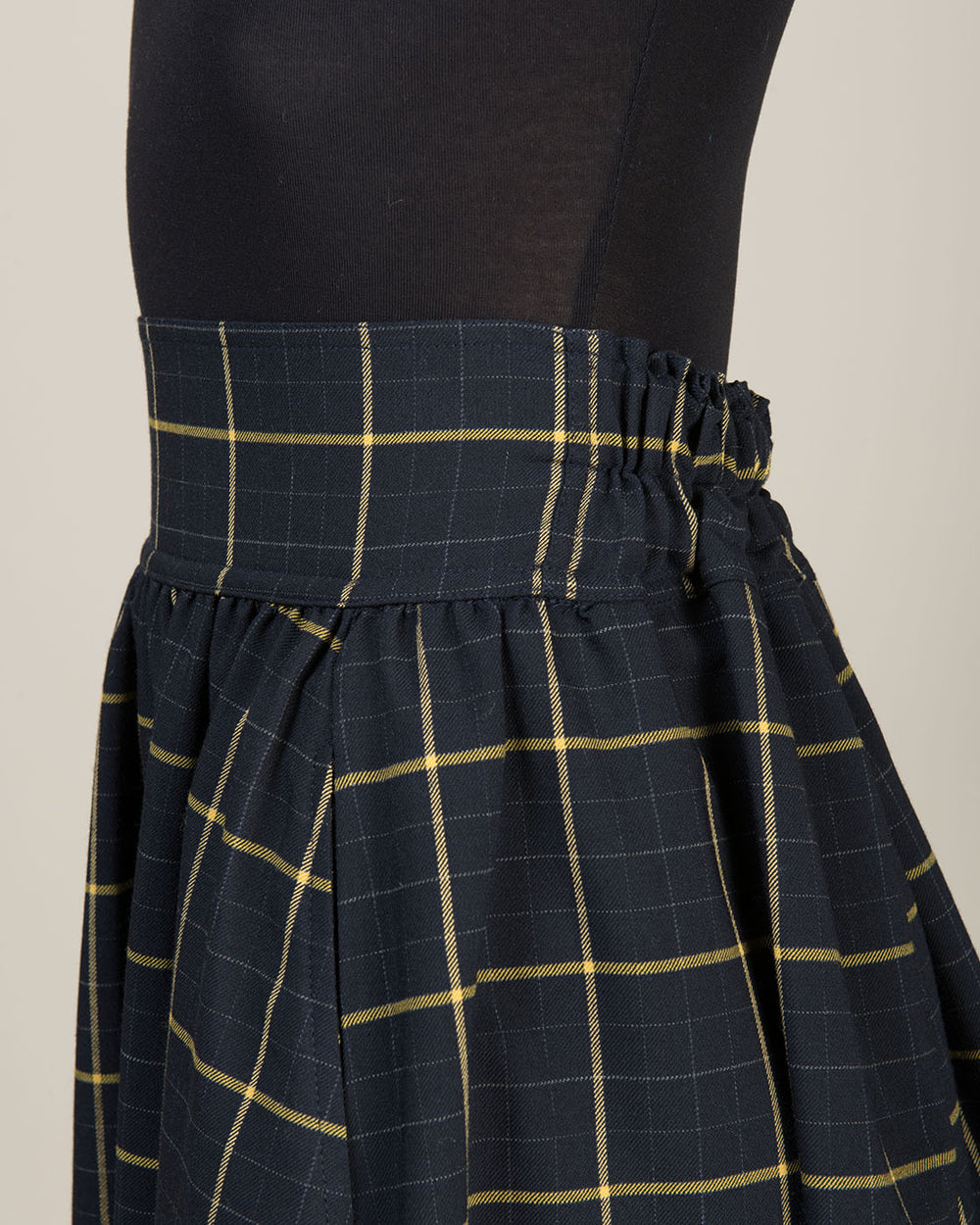 Blue, Yellow and Green Checked Skirt