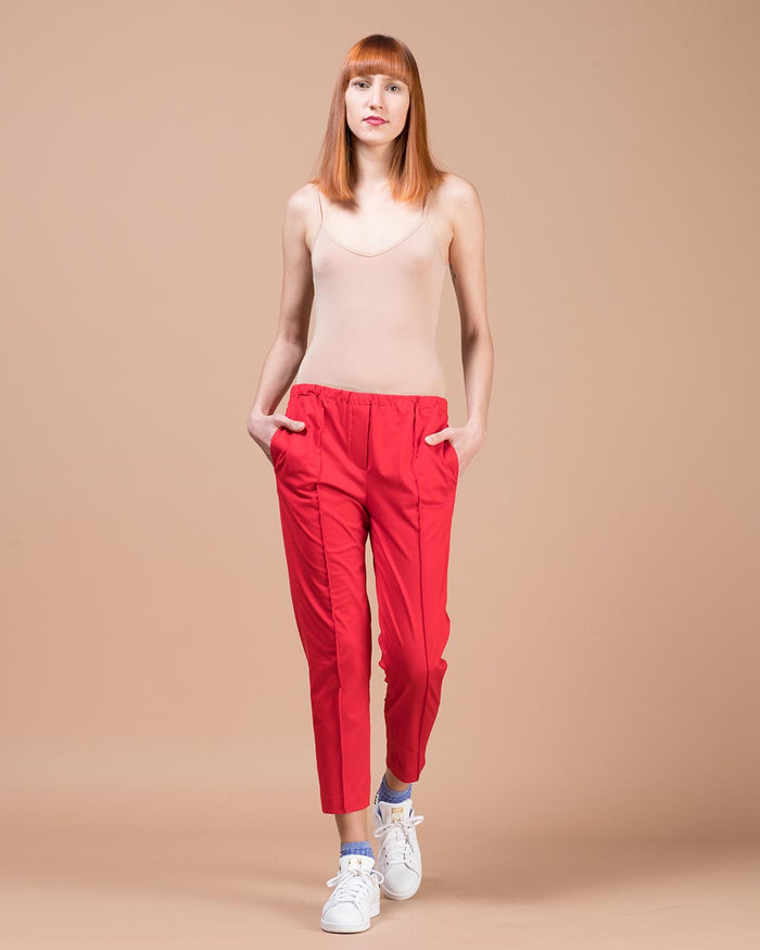 Red Straight Leg Pants