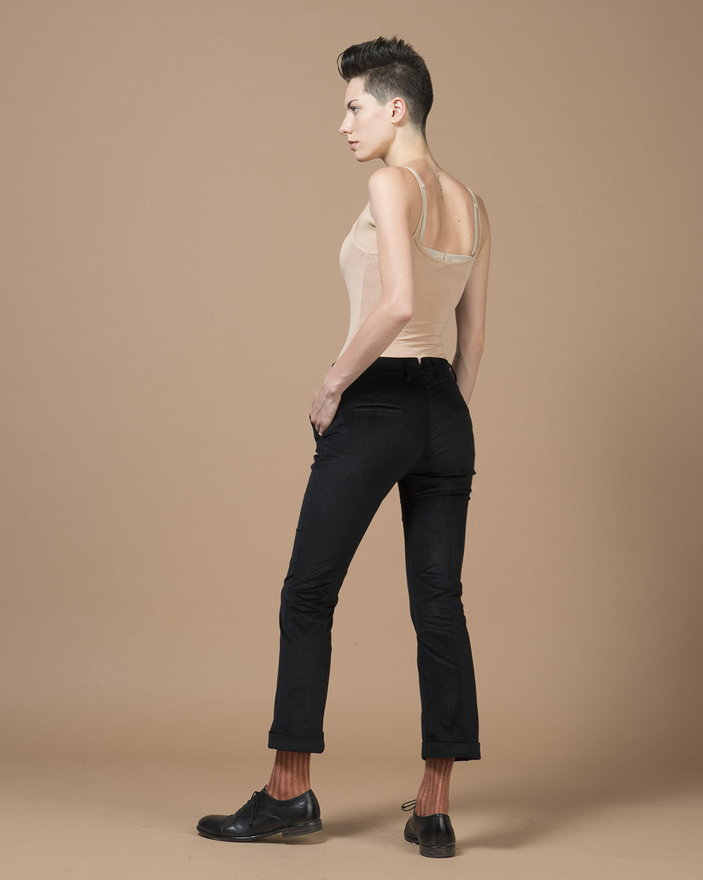 Black Velvet Stretch Pants