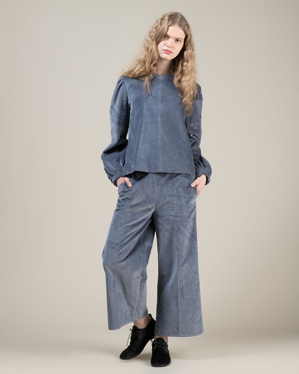 Blue Corduroy Pants