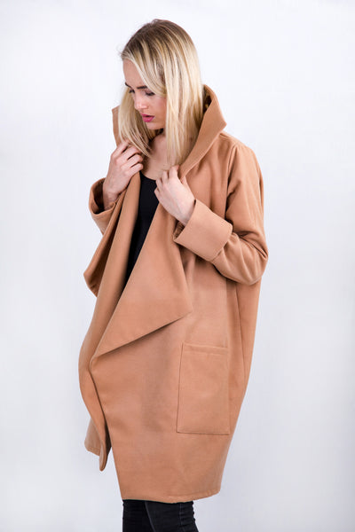 Billie Big Coat Camel