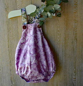 Purple Floral Romper