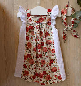 Red Rose Dress & Headband