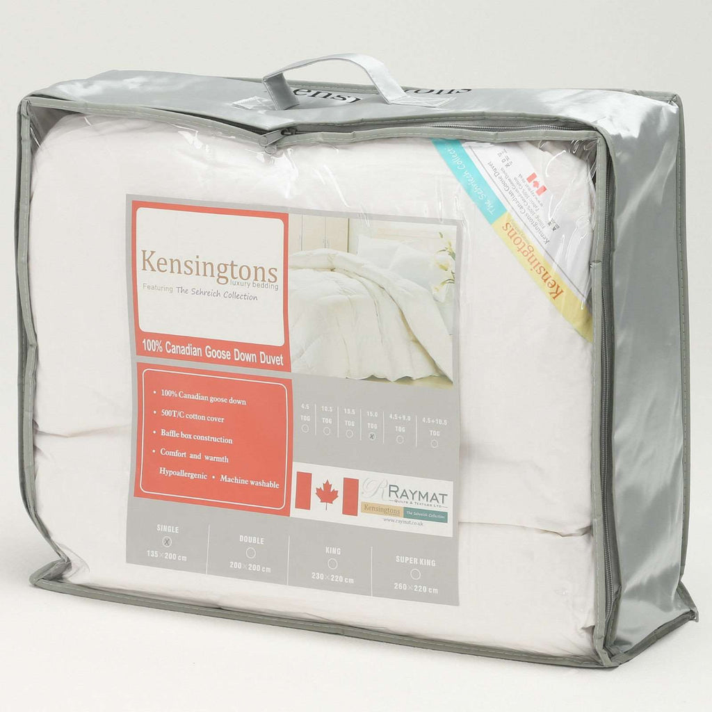 100% Pure Luxury Canadian Goose Down Super King Bed Duvet