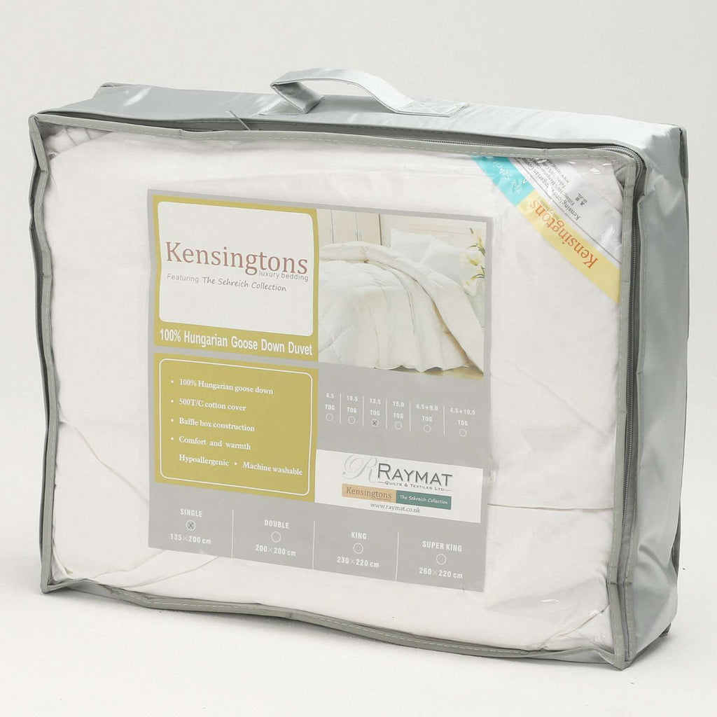 100% Pure Hungarian Goose Down Duvet Super King Bed 13.5 Tog
