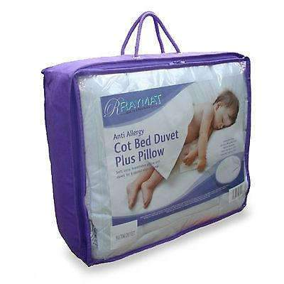 Micro-Fibre Baby Junior Toddler Anti Allergy Cot Bed Pillow and Duvet