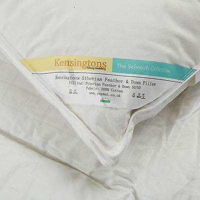 Kensingtons Goose Feather & Down Luxury Hotel Quality Pillows 50/50