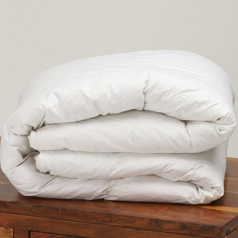 HUNGARIAN GOOSE FEATHER & DOWN ALL SEASONS SUPER KING BED DUVET 15.0