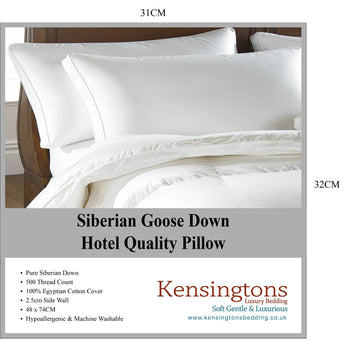 100 Siberian Goose Down Pillow