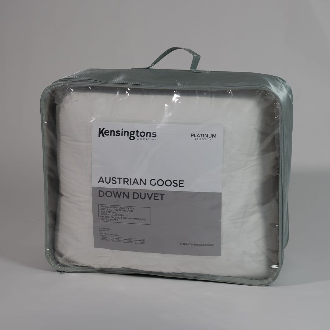 Kensingtons Platinum 100% Austrian Goose Down Single Bed Duvet - 5 Year Warranty