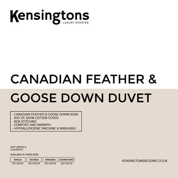 Canadian Goose Feather & Down Hotel Quality Luxury King Bed Duvet 50/50
