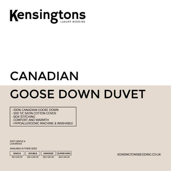 Canadian Goose Down Duvets 100% All Togs