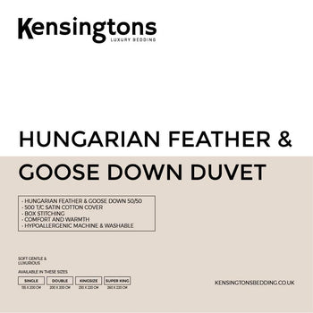 Hungarian Goose Feather & Down 4 Season Duvet 13.5 & 15.0 Togs