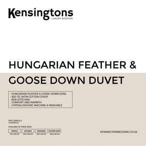 Hungarian Goose Feather and Down Duvet 50/50