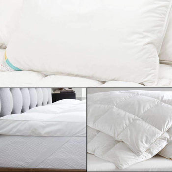 Hungarian Goose Down Duvet & Pillow + Hungarian Mattress Topper