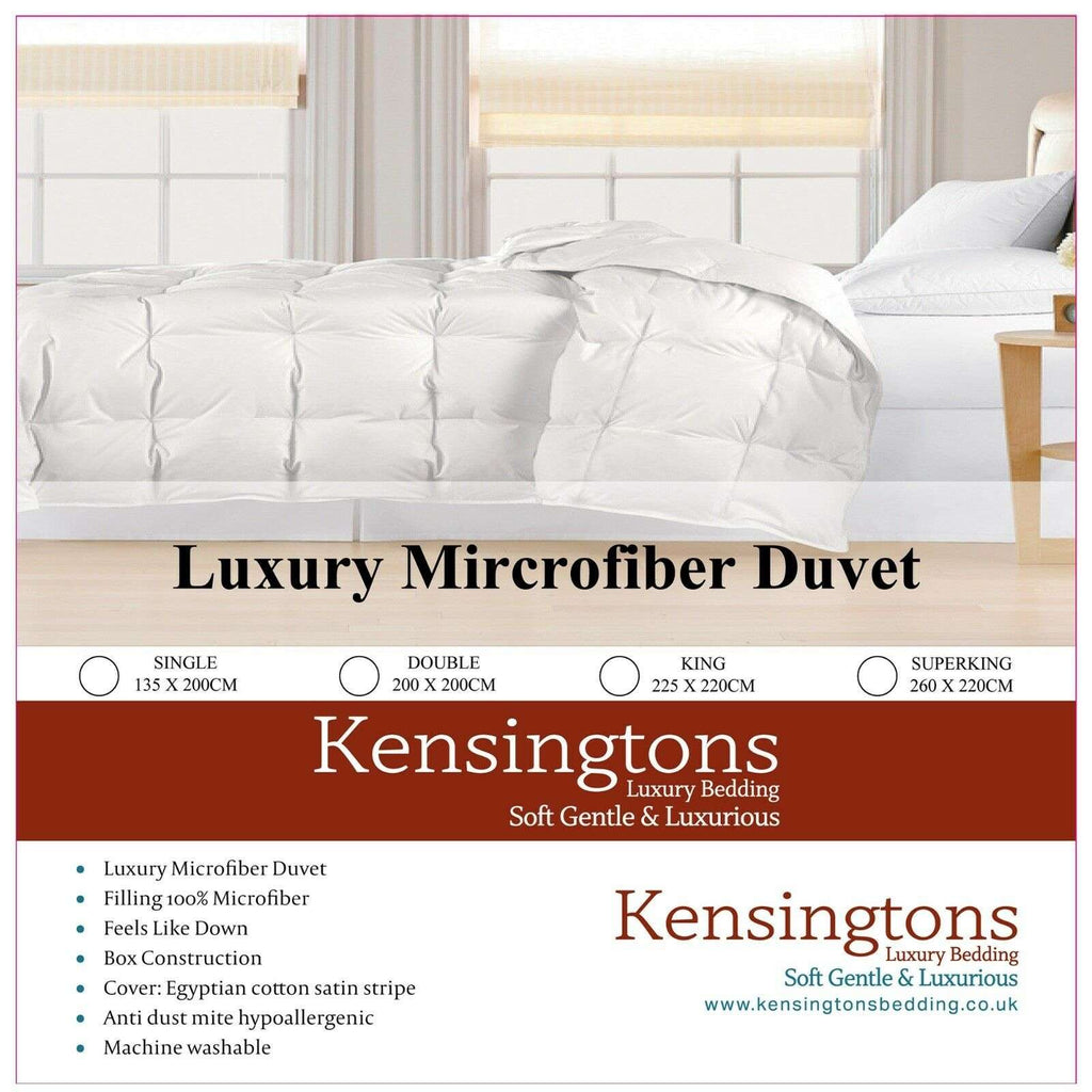 Egyptian Cotton Cover Microfibre Duvet