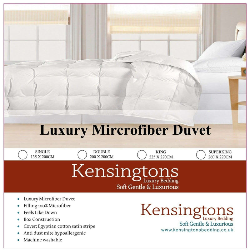 MICROFIBRE FEELS LIKE DOWN KING SIZE DUVET 10.5 Tog