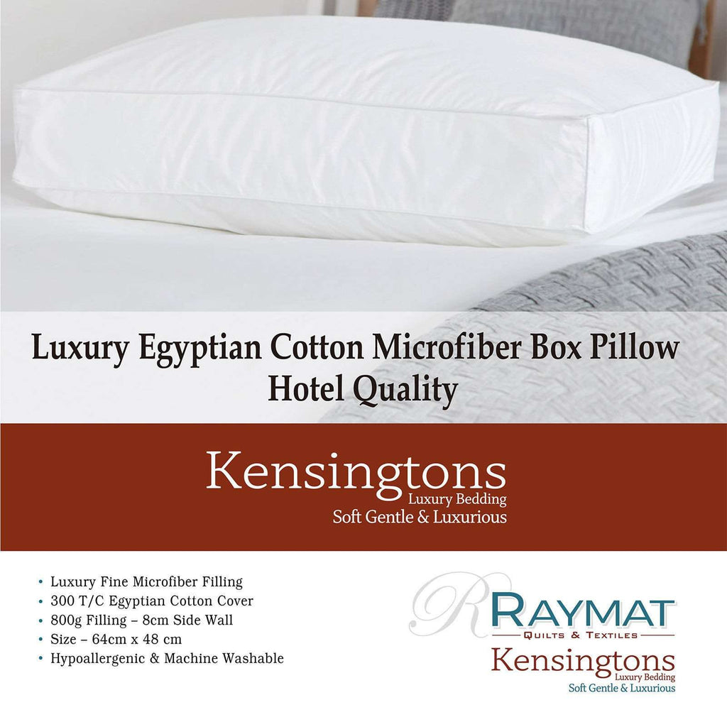 Microfibre Box Wall Square Edge Pillow