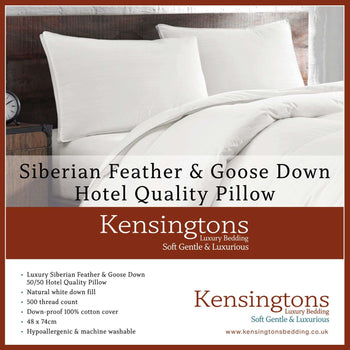 Kensingtons Siberian Goose Feather Down Box Pillow 1600G