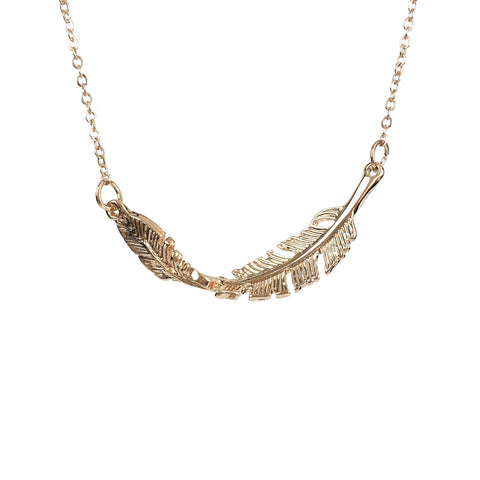 Feather From Heaven Necklace - www.sparklingjewellery.com