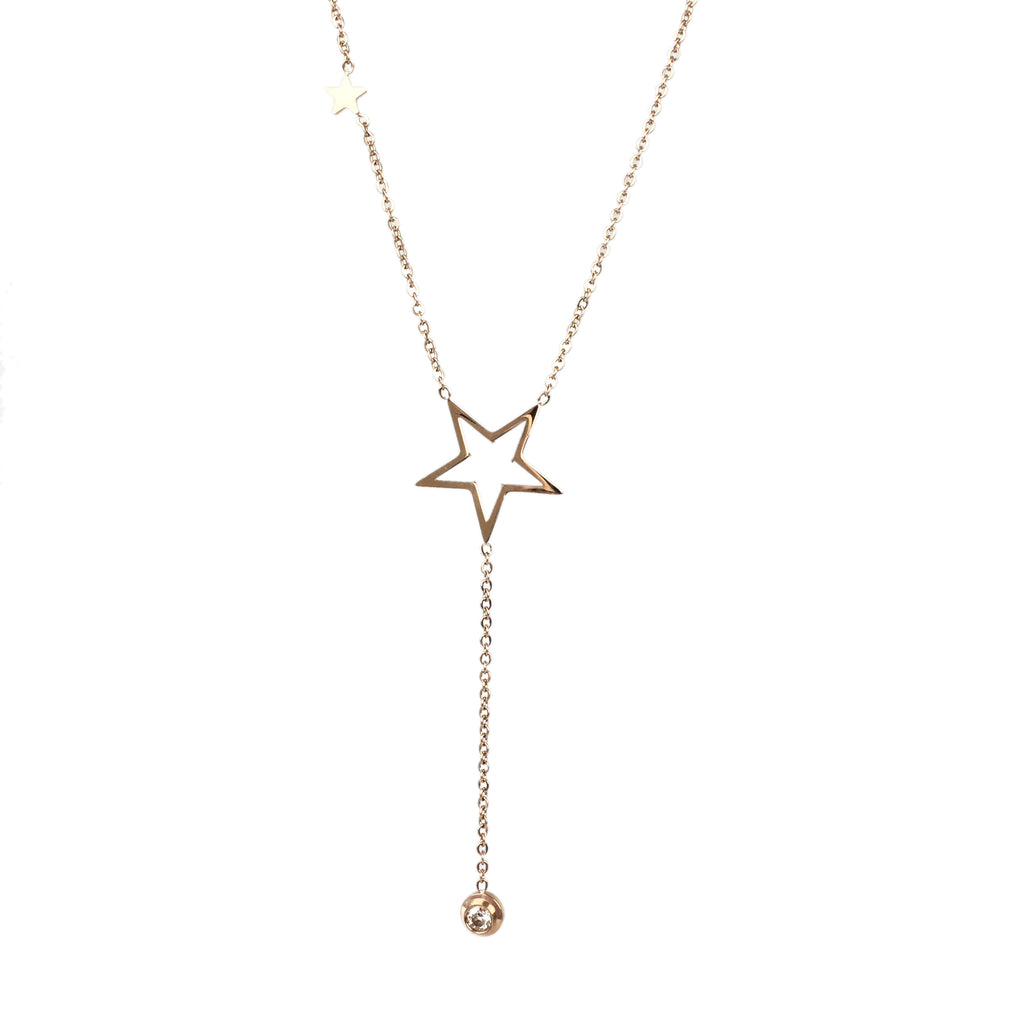 Rose Gold Dream On A Star - www.sparklingjewellery.com