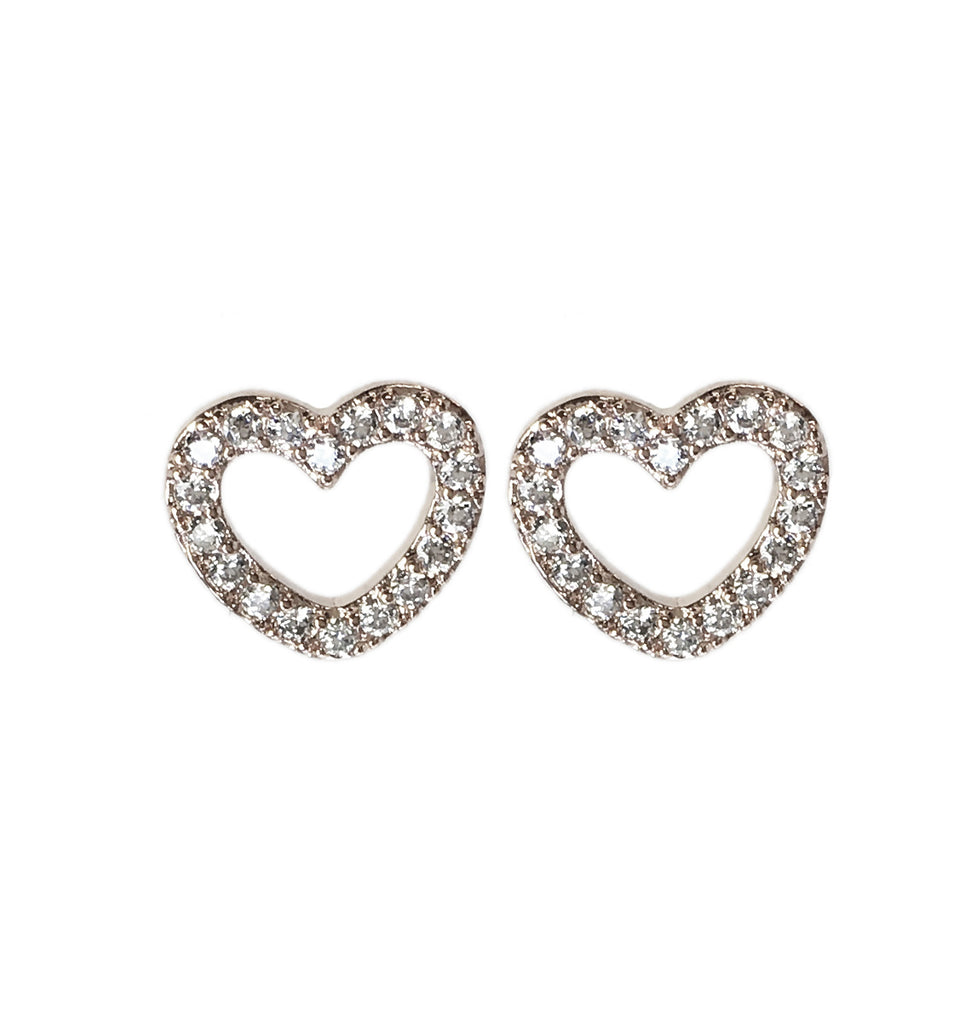 Heart Earrings - www.sparklingjewellery.com