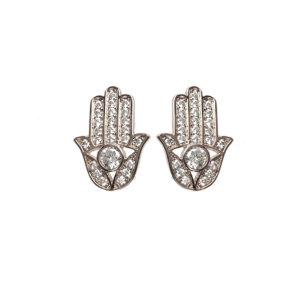 Hand of Hansa Hand Earrings - www.sparklingjewellery.com