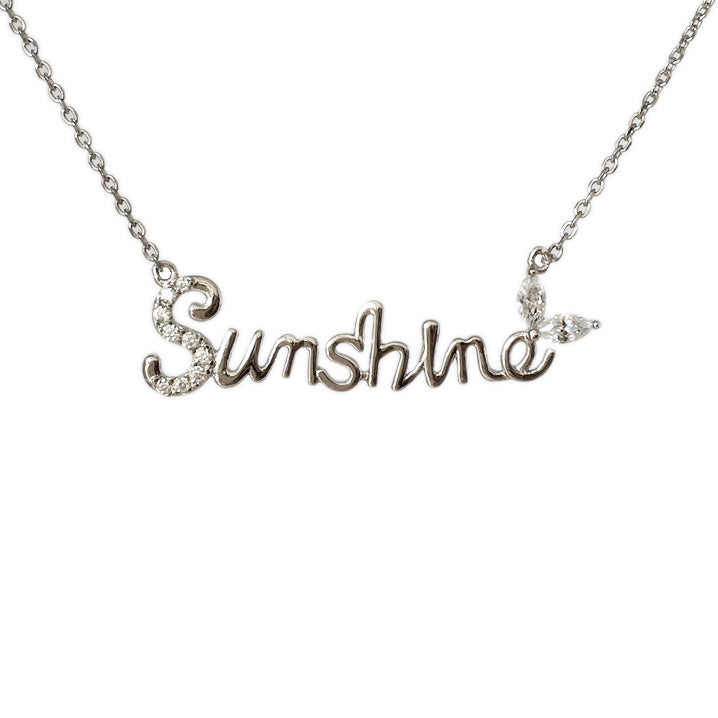 You Are My Sunshine Necklace - www.sparklingjewellery.com