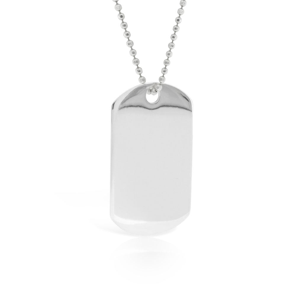 Sterling Silver Dog Tag - www.sparklingjewellery.com