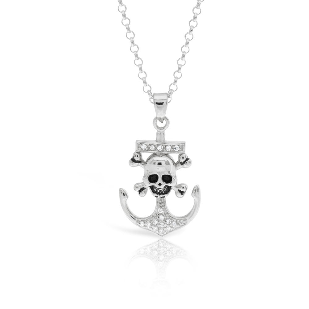 Anchor and Skull Pendant