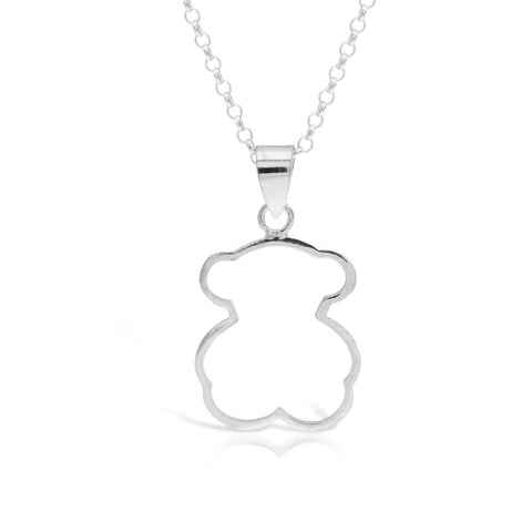 Children's Silver Bear Pendant